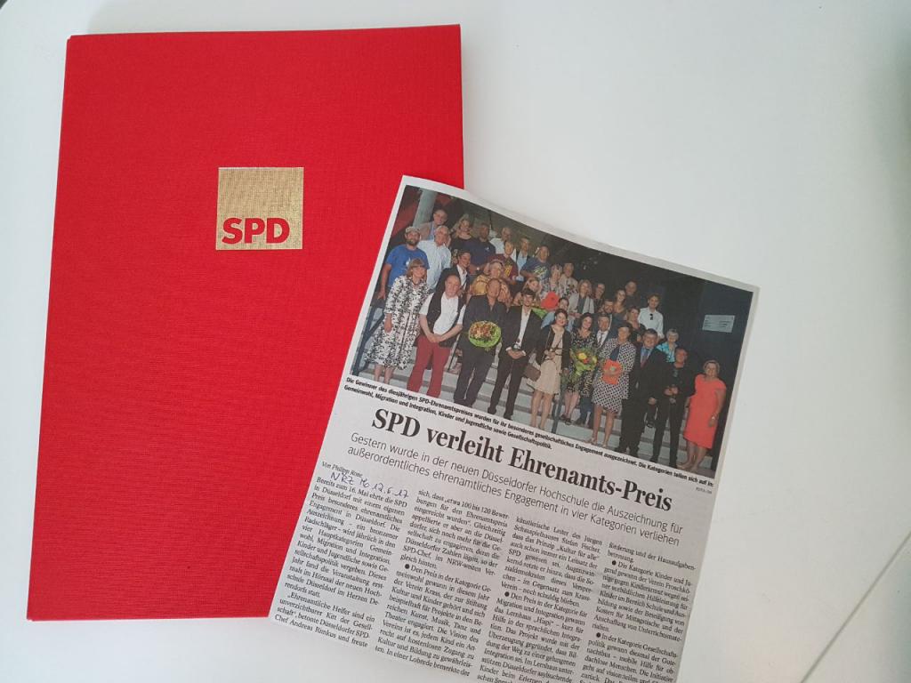 Zeitungsartikel SPD-Ehrenamtspreis